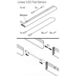Osram Linear LED Flat Sensor 840 4000K