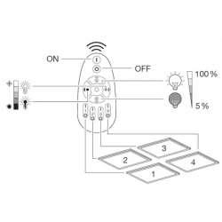 Osram PLANON PLUS 60x60 30W Remote-CCT 2700-6500K