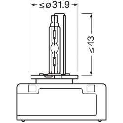 Osram xenónová výbojka D5S XENARC ORIGINAL