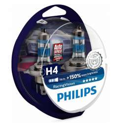 Philips 12V H4 55W P43t RacingVision +150% Box