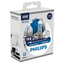 Philips 12V H4 60/55W P43T+W5W White Vision ultra Box