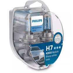 Philips 12V H7 55W PX26d+W5W White Vision ultra Box