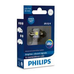 PHILIPS C5W X-tremeVision 12V 1W LED 6000K - 30mm