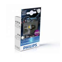 PHILIPS C5W X-tremeVision 12V 1W LED 6000K - 43mm