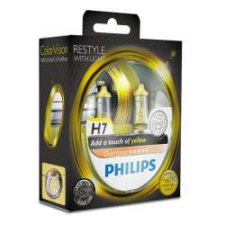 Philips ColorVision Žltá H7 12V 55W - 12972CVPYS2