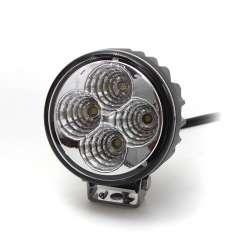 Pracovné svetlo okrúhle, 4x 3W LED Epistar