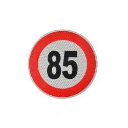 Reflexná samolepka označenie konštr. rýchlosti, 15cm