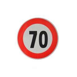 Reflexná samolepka označenie konštr. rýchlosti, 20cm