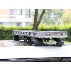 LED rampa SKY AIR 121 cm, 12-24V, R65, oranžová, transparentný kryt, SKY48-AT